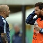 Sampaoli og Messi
